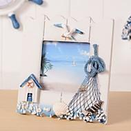 "5""Hanging Mediterranean Style Wood Frame European Classical Art frame Children Baby Photo Frame"