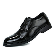 Men's Shoes Casual/Office & Career/Party & Evening Fashion PU Leather Oxfords Shoes Black 38-43