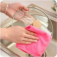 Sale Dish Towel Dishcloth Bamboo Fiber Oil Washing Towels Scouring Pad Kitchen Gadget(Random Color)