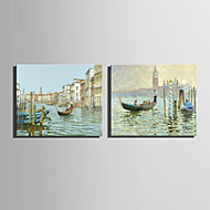 Mini Size E-HOME Oil painting Modern Shuicheng Scenery Pure Hand Draw Frameless Decorative Painting