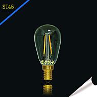 1個 NO E14 / E12 2W 2 COB 100-200 lm 温白色 チューブ 明るさ調整 / 装飾用 LEDボール型電球 交流220から240 / AC 110-130 V