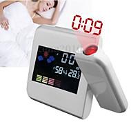 LED 프로젝터 기능 (모듬 된 색상) 패션 디지털 LCD 화면 홈 온도계 알람 시계 책상 알람 시계