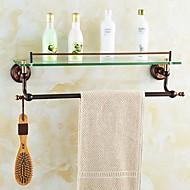 צדף לחדר האמבטיה / סל למקלחת / גאדג'ט לאמבטיה ירוק התקנה על הקיר 55.5*14.6*15.5cm(21.85*5.75*6.1 inch) פליז ניאוקלאסי