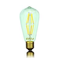 E26 E27 110V 220V 2200K-2700K 400-500Lm ST64 6W 8LED Bulb Edison Retro Led Bulb