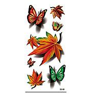Unbranded - Tatuajes Adhesivos - Non Toxic / Modelo / Halloween / Parte Lumbar / Waterproof / 3D -Series de Animal / Series de Flor /