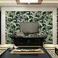 PALUTON Trees/Leaves Wallpaper Country Wall Covering,Non-woven Paper Foliage Fresh Garden