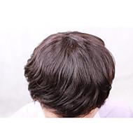 """8 """"x 10"""" męska peruka 100% peruwiański wymiana toupee dziewiczy włosy dla mężczyzn żadny gmatwanina brak wydalania"""