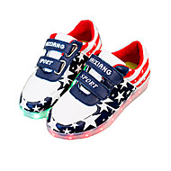 Women's / Boy's / Girl's Sneakers Summer Round Toe / Sandals Leatherette Outdoor / Casual / Athletic Flat Heel Magic Tape / LED Blue