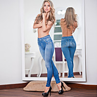 Damer Ensfarget / Denim Legging Polyester / Spandex Normal