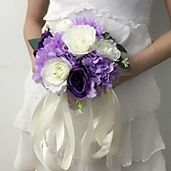 """Bouquets de Noiva Redondo Rosas Buquês Casamento / Festa / noite Cetim 11.02""""(Aprox.28cm)"""