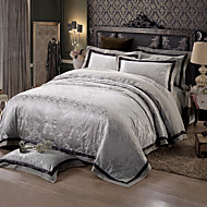 Geometrijski 4 komada Silk/Cotton Blend Jacquard Silk/Cotton Blend 1pc duvet Cover 2kom Shams 1pc Stan list
