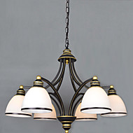 6 * 60 watts of retro metal droplight sitting room/bedroom/restaurant/classroom/office