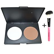 2 Presset pudder Tør / Mat / Mineral Presset Pulver Concealer / Brightening Ansigt Ivory / Nøgen 中国广州 彩萱  ColorShine