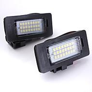 2 개 폭스 바겐 프 디 A3의 A4의 A6는 특수 주도 디코드의와 주도 번호판 램프 12V의 14w 주도