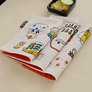 8pcs mélange de coton napperons carrés avec un style de vaisselle