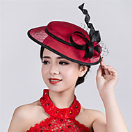 Wedding Party Sinamay Flower Fascinator Cocktail Wedding Hat Burgundy ivory
