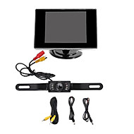 "Car Rear View  Camera with Night Vision + 3.5"" TFT LCD Monitor Screen(Not fit for Truck , Cargo Van and Long Vehicle)"