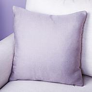 Pure Color Linen Cushion Cover-Purple