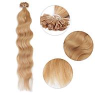 """neitsi 20 """"1g / s de fusão da queratina u unha natural da onda ponta 100% extensões de cabelo humano 27 #"""