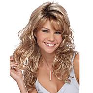 женщины бежевый блондинка длинные волны тела синтетические волосы парик