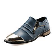 Homme Chaussures Cuir Eté Automne Confort Mocassins et Chaussons+D6148 Bout Métallique Fermeture Pour Mariage Décontracté Soirée &