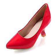 נעלי נשים-בלרינה\עקבים-דמוי עור-שפיץ-שחור / צהוב / ירוק / ורוד / אדום / לבן / זהב-שמלה-עקב קצר