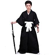 Inspirerad av Cosplay Cosplay Animé Cosplay Kostymer/Dräkter cosplay Suits / Kimono Enfärgat Svart 3/4-dels ärmKimono Kappa / Hakama