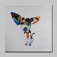 Ručně malované Abstraktní / Zvíře / Komiks / PopModerní Jeden panel Plátno Hang-malované olejomalba For Home dekorace