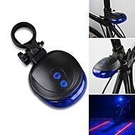 פנס אחורי לאופניים LED / Laser - רכיבת אופניים עמיד למים AAA 1000 Lumens סוללה רכיבה על אופניים-תאורה