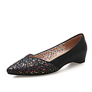 Women's Shoes Glitter  Leatherette Flat Heel Wedges  Pointed Toe Flats Wedding Dress More Colors Available