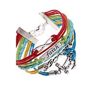 Bracelet Bracelets Alliage Cuir Amour Ancre Original Mode Soirée Regalos de Navidad Bijoux Cadeau1pc