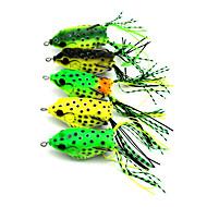 5pcs Hengjia New Frog lures PVC box Package 60mm 12g Fishing Lure Rondom Colors