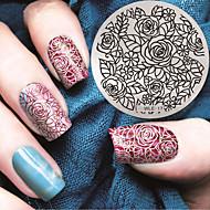 2016 Latest Version Fashion Pattern Rose Flower Nail Art Stamping Image Template Plates