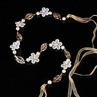 Mujer / Niña de flor Perla / Aleación Celada-Boda / Ocasión especial Bandas de cabeza 1 Pieza Blanco Redondo