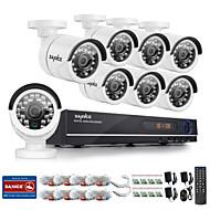 מערכת המצלמה עמיד הביתה הביטחון sannce® מקליט DVR 8ch AHD-720p יום לילה
