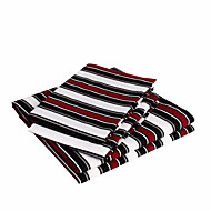"Sheet Set,4-Piece Microfiber the red and black lines with 12"" Pocket Depth"