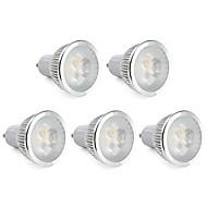 6W GU10 Lâmpadas de Foco de LED MR16 3 LED de Alta Potência 310 lm Branco Quente Regulável AC 220-240 V 5 pçs
