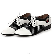 Men's Spring / Summer / Fall / Winter Pointed Toe PU Office & Career / Casual / Party & Evening Low Heel Polka Dot / Split JointBlack /