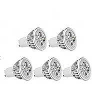 4W GU10 LED Spotlight MR16 1 350 lm Warm White Dimmable AC 220-240 V 5 pcs