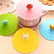 dia 11cm különböző rajzfilm állat szilikon csésze terjed Kreatív színű bögre sapka drinkware (véletlenszerű szín)