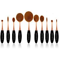 10 ensembles de brosses Poil Synthétique Professionnel Couvrant Plastique Visage Œil Lèvre MAKE-UP FOR YOU