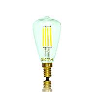1個 NO E14 / E12 3W 4 COB 200-300 lm 温白色 チューブ 明るさ調整 / 装飾用 LEDボール型電球 交流220から240 / AC 110-130 V