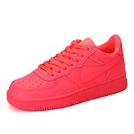 Women's Shoes Flat Heel Comfort Fashion Sneakers Dress / Casual Black / White / Fuchsia