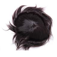 """100% kawałek indyjski włosy 10 """"x8"""" peruka męska z jasnego pu wokół obwodu"""