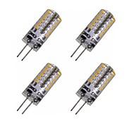 3W G4 Lâmpadas Espiga T 48 SMD 3014 280-320 lm Branco Quente / Branco Frio Decorativa DC 12 / AC 12 V 4 pçs