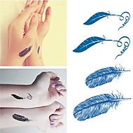 o dia das bruxas penas tatuagens etiquetas na moda etiquetas pequenas tatuagens temporárias impermeáveis para braço manga arte corporal