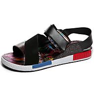ユニセックス-アウトドア オフィス カジュアル-キャンバス マイクロファイバー-フラットヒール-カップルの靴-サンダル-