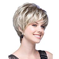 נשים בלי כומתה, אור וגלי ישר קצר בז בלונדינית טון שיער סינטטי מפץ צד פאות עם רשת שיער חינם