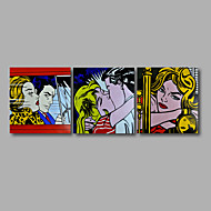 """Stretched (ready to hang) Hand-Painted Oil Painting 72""""x24"""" Canvas Wall Art Modern Pop Art Girls Lady"""