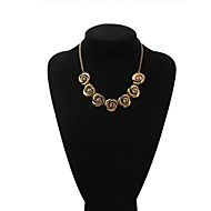 Brand Design Gold Plated Austrian Rhinestone 7pcs Roses Pendant Necklace